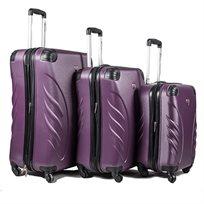 Swiss סט 3 מזוודות קשיחות סגול