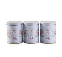 סט תה, קפה וסוכר Arcosteel  בסגנון וינטג' פרחוני