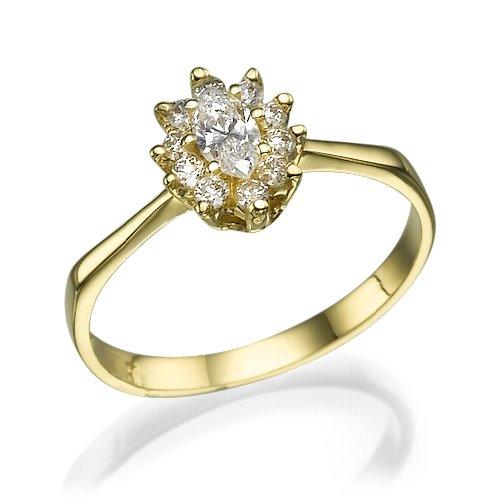 טבעת יהלומים 0.60 קראט הנסיכה דיאנה