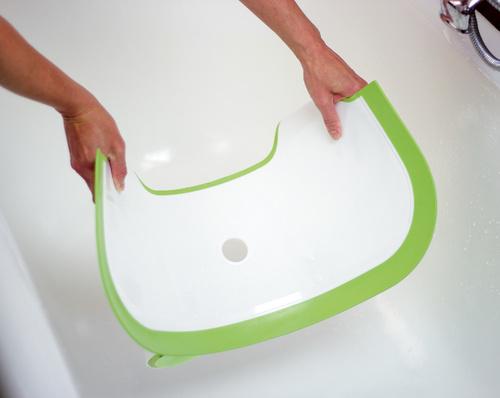 Baby Dam מקטין אמבטיה שהופך אמבט ביתי לאמבט תינוק (דגם חדש PLUS) - אפור - תמונה 6