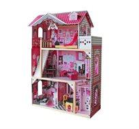 בית בובות במראה עץ לילדות דגם פרובאנס ספירל