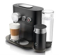 מכונת Nespresso אקספרט אנד מילק עם מקציף חלב בצבע שחור דגם C85