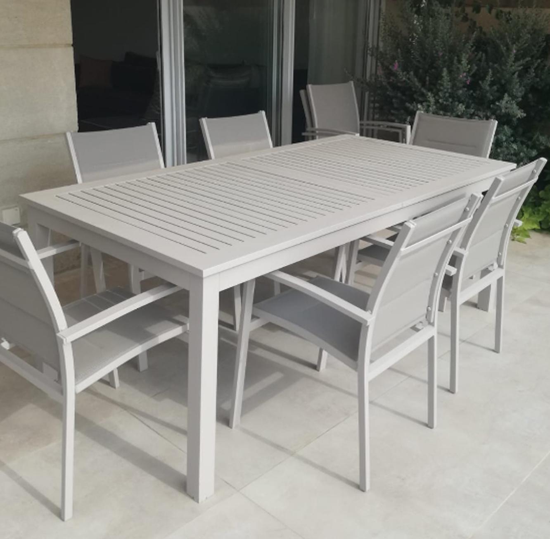 שולחן נפתח לחצר ולמרפסת כולל 6 כסאות עשוי אלומיניום עמיד במיוחד לתנאי החוץ בצבעים לבחירה - תמונה 3