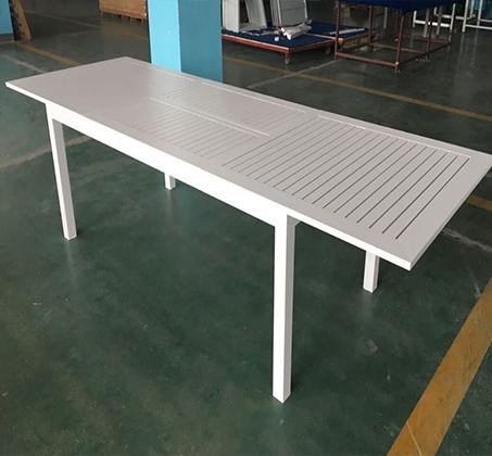 שולחן נפתח לחצר ולמרפסת כולל 6 כסאות עשוי אלומיניום עמיד במיוחד לתנאי החוץ בצבעים לבחירה - תמונה 5