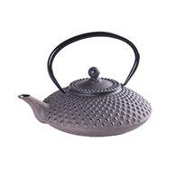 קומקום תה יפני Hira מעוצב יציקת ברזל בשילוב אמייל GURO במגוון צבעים לבחירה