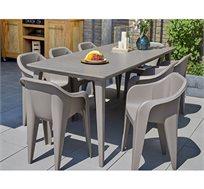 """שולחן בעל טקסטורה מיוחדת נפתח עד רוחב 240 ס""""מ דגם לימה כתר"""