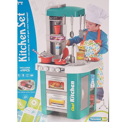 מטבח אלקטרוני לילדים כולל אביזרים דגם שף