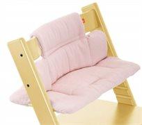 כרית ריפוד לכיסא אוכל טריפ טראפ עם בייבי קיט 100% כותנה - ורוד טוויד