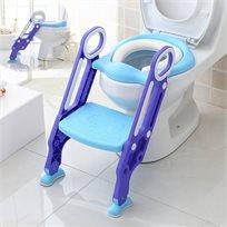 ישבנון מרופד לפעוט עם מונע החלקה ומונע התזה - כחול/סגול