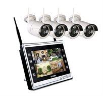 קיט אבטחה אלחוטי כולל 4 מצלמות+  מסך מובנה