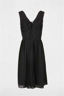 שמלת פליסה MORGAN בצבע שחור