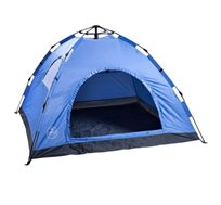 אוהל עד 4 אנשים בעל רצפת פוליאסטר אוקספורד עבה המונעת חדירת נוזלים CAMP&GO
