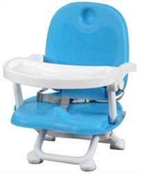 מושב הגבהה לתינוק קיט קט מתקפל עם מגש וריפוד שליף ורחיץ - כחול