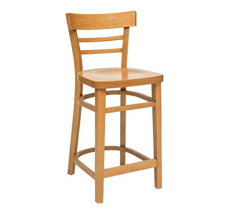 כסא בר מעץ מרופד למטבח