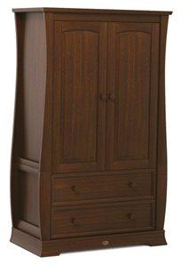 ארון 2 דלתות לחדר ילדים מעוצב Sleigh מעץ מלא - אלון אנגלי