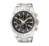שעון יד כרונוגרף לגבר CITIZEN עשוי פלדת אל חלד בעיצוב משולב ועמיד במים עד 100M