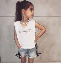 ORO חולצה (7-2 שנים) - וי לבן