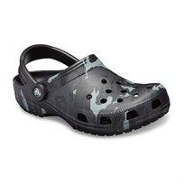 Crocs Classic Seasonal Graphic Clog - נעלי קלוג קלאסיות בהדפס קייצי בצבע שחוראפור