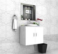 ארון אמבטיה תלוי לכיור צף ומראה