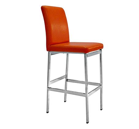 כיסא בר גבוה מעוצב מרופד דמוי עור לשימוש במטבח ובחדרי עבודה במגוון צבעים לבחירה - תמונה 2