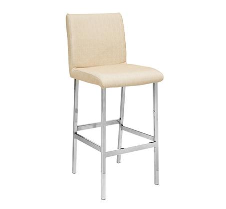 כסא בר גבוה למטבח בריפוד סקאי דגם שני במבחר גוונים לבחירה