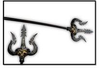 נשק קלשון מקורי מלך השדים צבע כסף 122X22