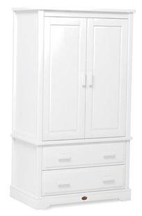 ארון 2 דלתות לחדר ילדים מעוצב Eton מעץ מלא - לבן