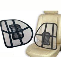 משענת כיסא אורטופדית לתמיכה בגב לבית ולרכב, לישיבה נכונה ובריאה ולמניעת עומס וכאבים, רק ב-₪39!