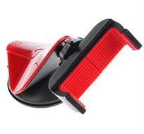 מעמד טלפון לרכב ספיידר בצבע אדום מעוצב בעל מנגנון ייחודי להצמדה חזקה הניתן להסרה ולשימוש חוזר