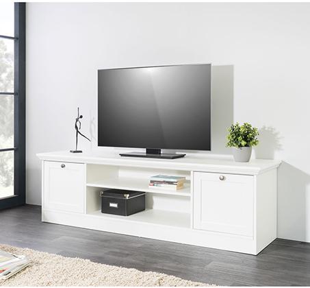 מזנון טלוויזיה Landwood-17 בעיצוב פרובנס צבע לבן מט - תמונה 2