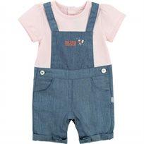 BOSS בוס (6-1 חודשים) אוברול בנות שילוב ג'ינס