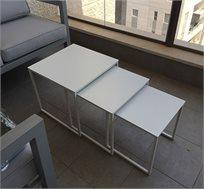 שולחן אלומיניום נמוך לבית ולמרפסת במגוון גדלים לבחירה