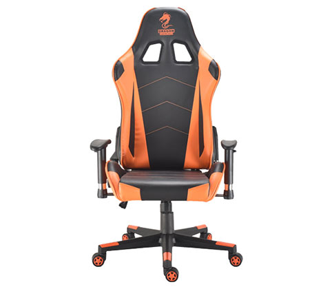 כיסא גיימרים  DRAGON GAMECHAIR GLADIATOR צבע כתום דגם GPDRC-GLA-OR  - תמונה 3