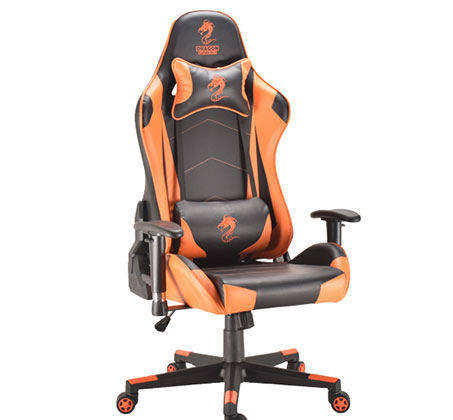 כיסא גיימרים  DRAGON GAMECHAIR GLADIATOR צבע כתום דגם GPDRC-GLA-OR  - תמונה 2