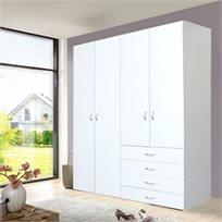 ארון 4 דלתות גבוה עם שידת מגירות לחדרי שינה וחדרי ילדים בית HOME DECOR