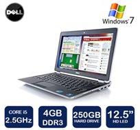 """נייד Dell Latitude עם מסך """"12.5 Anti-Glare עם מעבד i5, זיכרון 4GB, דיסק 250GB ו-WIN7 + מתנה!"""