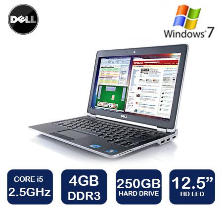 """הסדרה העסקית! נייד Dell Latitude עם מסך """"12.5 Anti-Glare עם מעבד i5, זיכרון 4GB, דיסק 250GB ו-WIN7"""