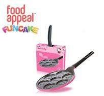 """מתפנקייקים עם הלו קיטי! מחבת פנקייק 26 ס""""מ מבית Food Appeal עם 7 תבליטי הלו קיטי מדליקים"""
