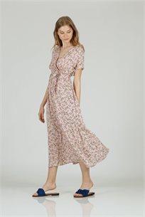שמלה פרחים ויוי ורוד - CUBiCA