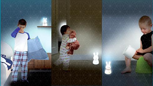מנורת לילה LED אלחוטית עם בסיס טעינה - תמונה 4