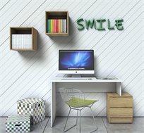 שולחן עבודה עם זוג מגרות וכוורות דגם SMART במגוון צבעים לבחירה