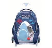 ילקוט אורטופדי X BAG TROLLEY בדגם כריש + בקבוק שתייה מתנה