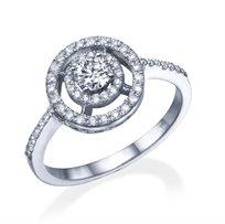 """טבעת יהלומים """"סשה"""" 0.75 קראט זהב לבן"""
