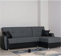 מערכת ישיבה פינתית דגם VERONA נפתחת למיטה זוגית עם 2 ארגזי מצעים מובנים SIRS כולל 2 כריות מתנה