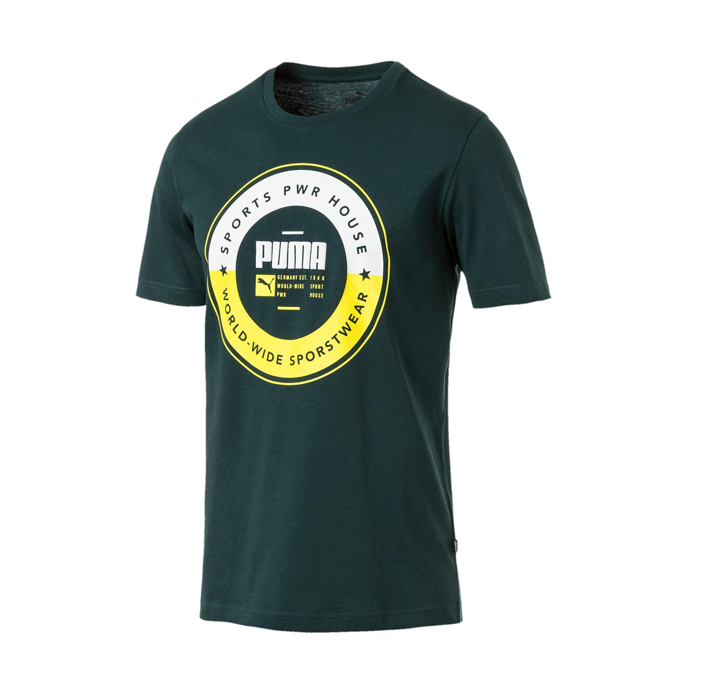 חולצת טי מודפסת נדגם L85407830 לגברים - ירוק