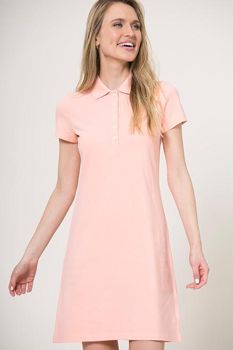 שמלת פולו לנשים - ורוד