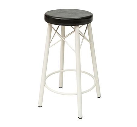 כסא בר גבוה למטבח בריפוד סקאי דגם קרוס במבחר גוונים לבחירה
