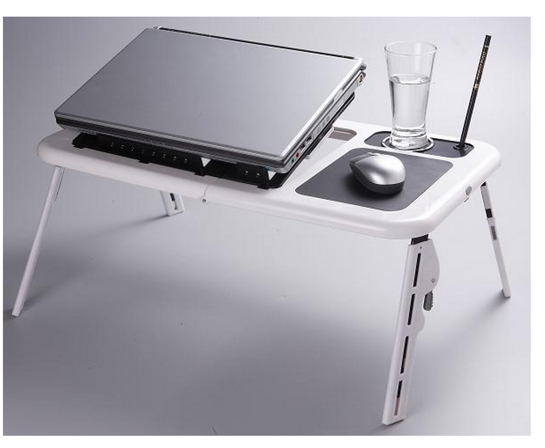 אדיר מושלם לכל מחשב נייד! שולחן מתקפל ונייד בעל משטח קירור עם 2 JB-72