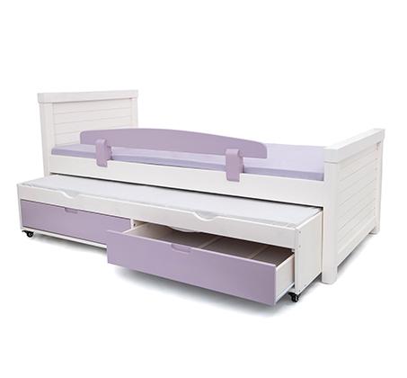 מיטת יחיד מעץ מלא במגוון צבעים לבחירה דגם נוגה
