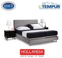 מיטה מדגם PRIMAVERA במידה 160X200 עם מזרני TEMPUR ORIGINAL 19, מסגרת בעיצוב קלאסי, מבית 'הולנדיה'